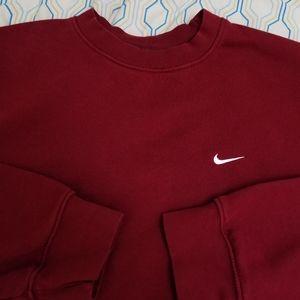Vintage Nike Embroidered Swoosh Crewneck Mock Neck